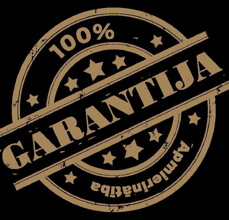 Iebūvējamie skapji - garantija
