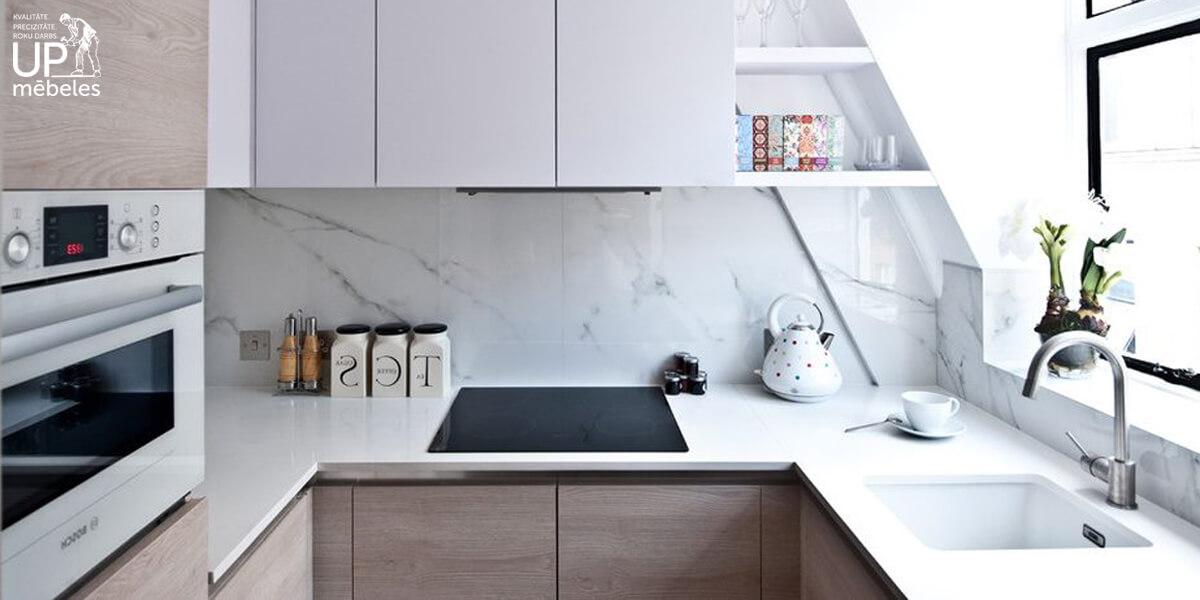 virtuves stikla paneli