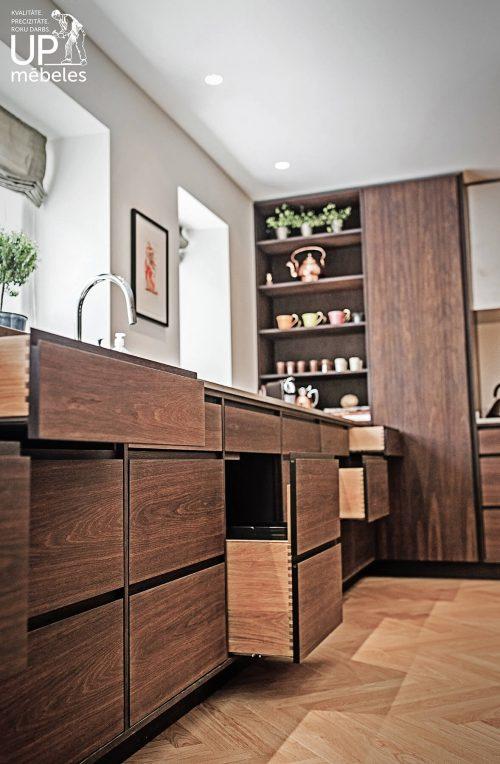 virtuves mēbeļu izgatavošana pēc individuāla pasūtījuma
